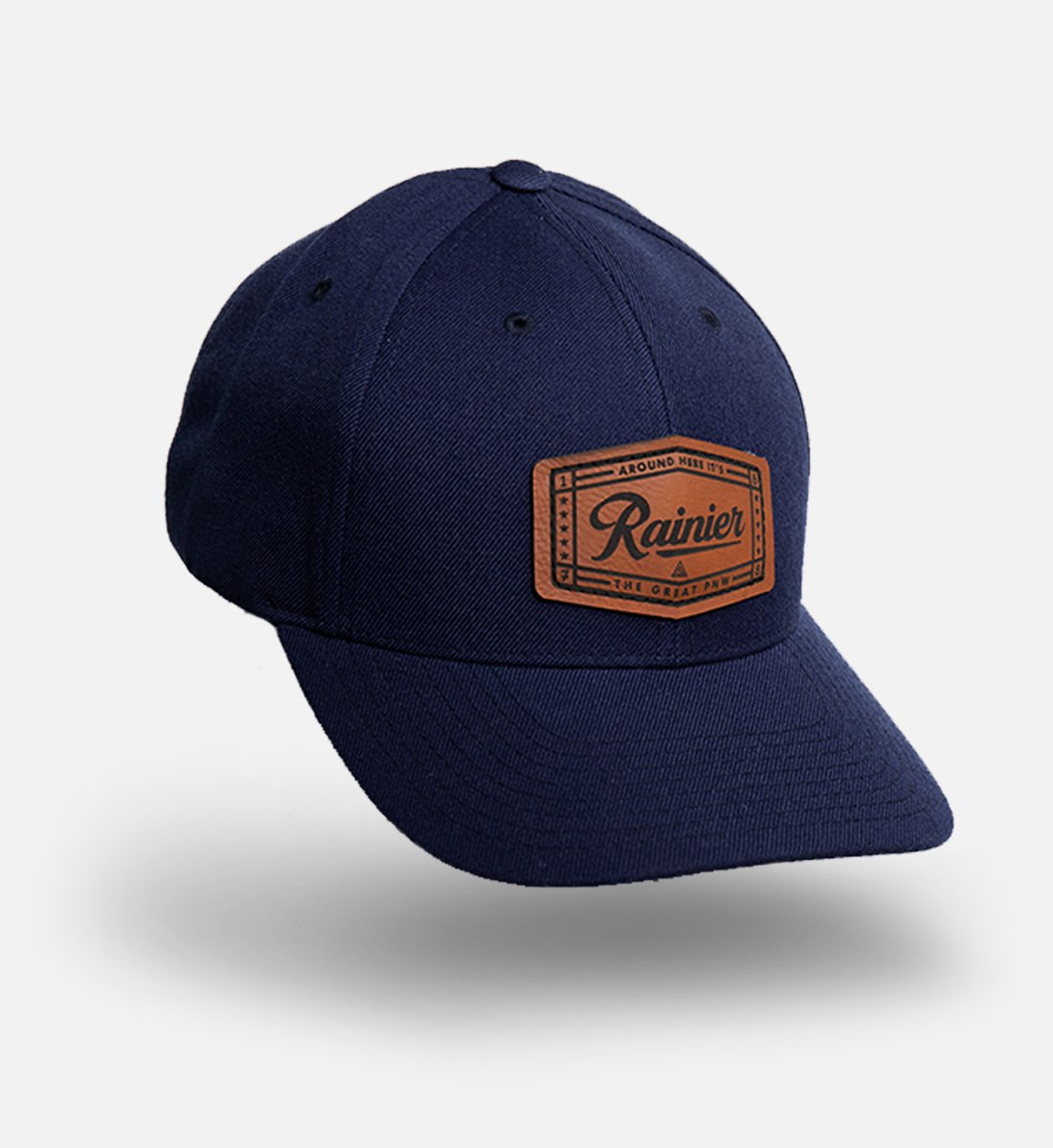 Faux Leather Patch Hats